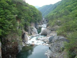 龍王峡 むささび橋からの眺め