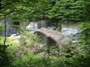 龍王峡 五光岩