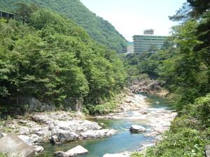 遊歩道からの眺め|大滝河川遊歩道