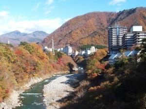 鬼怒川温泉 楯岩の紅葉